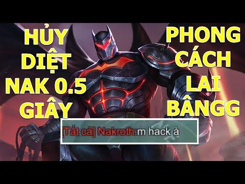 Hủy diệt NAKROTH với BATMAN phong cách LAI BÂNGG Liên quân mobile mùa 15