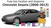 Fuse Box Location And Diagrams Chevrolet Impala 2000 2005 Youtube