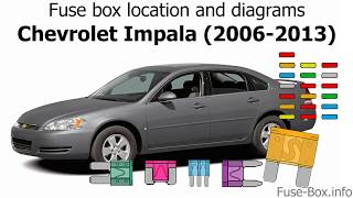 Fuse Box Location And Diagrams Chevrolet Impala 2006 2013 Youtube