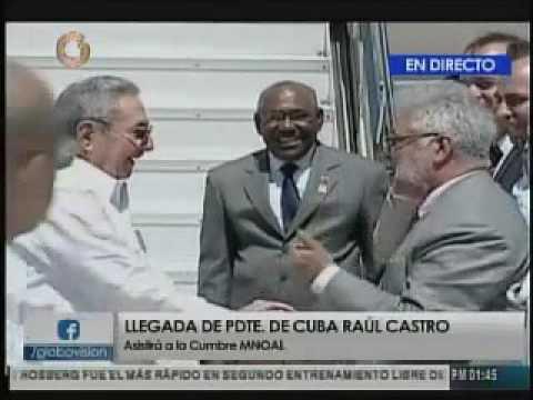 Llegada de Raul Castro a Venezuela para cumbre Mnoal