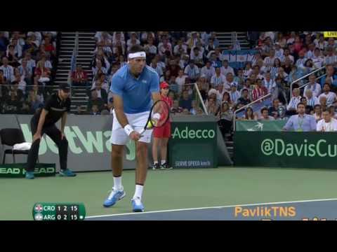 Marin Cilic vs Juan Martin Del Potro Highlights Davis Cup Final 2016