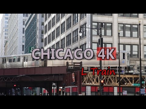 Ultra HD 4K Chicago Travel USA Tourism L Train Vehicles City Transporation UHD Video Stock Footage