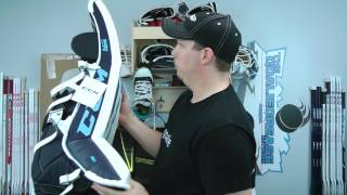 unboxing ccm premier pro goalie pads glove blocker leg pads stick
