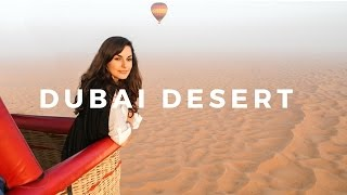 Epic Desert Hot Air Balloon Ride! // Dubai