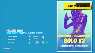 Fortnite Practice Tournament SOLO V2 ASIA Tamil LIVE stream