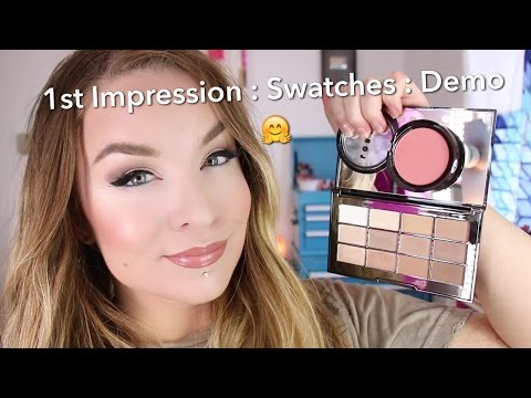 Lorac Nude Necessities Eyeshadow Palette & Color Source Blush : Spring 2016 : Swatch : Demo