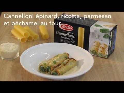 cannelloni-épinard,-ricotta,-parmesan-et-béchamel-au-four---italie-:-cuisineaz