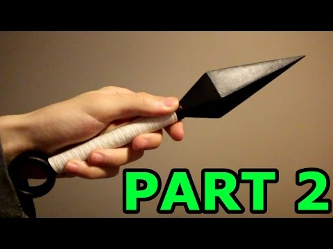 How To Build The Hardened Paper Kunai Part 2