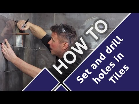 How To Cut Tiles Around Pipes And Drill Holes In Bathrooms & Toilets - Tile Mountains