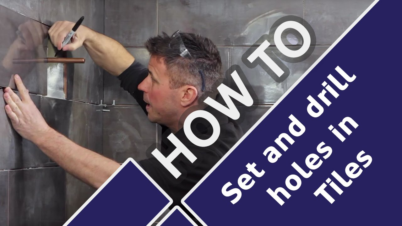How To Cut Tiles Around Pipes And Drill Holes In Bathrooms Toilets - Cutting holes in tile for plumbing