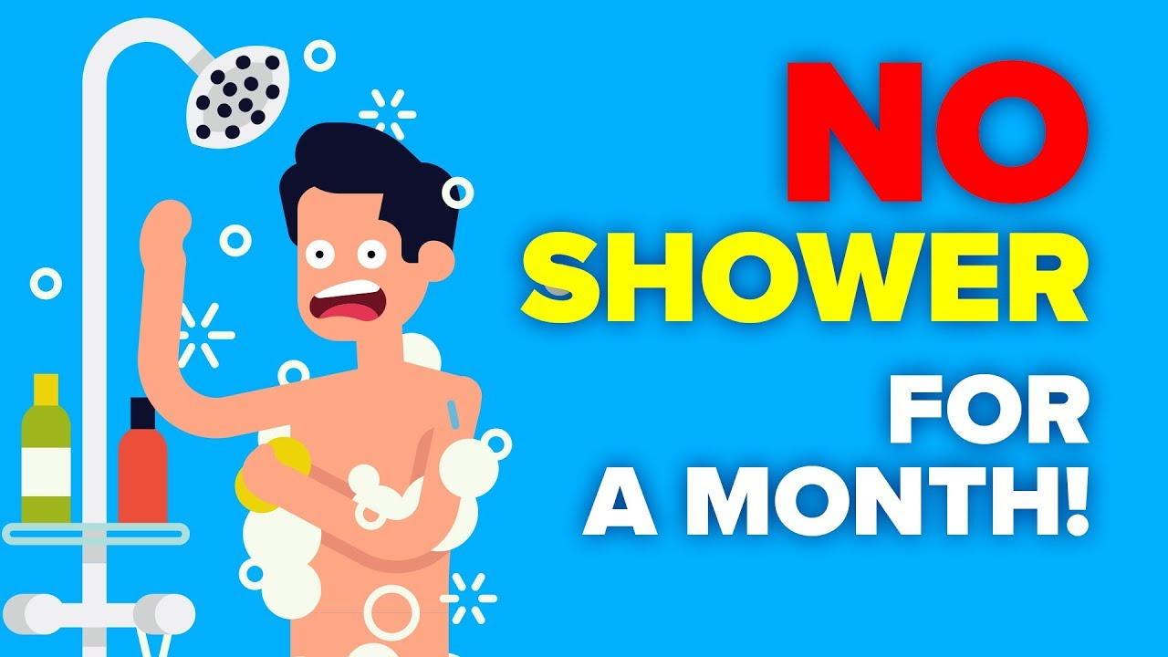 I Didn't Shower For a Month and This Is What Happened - Challenge
