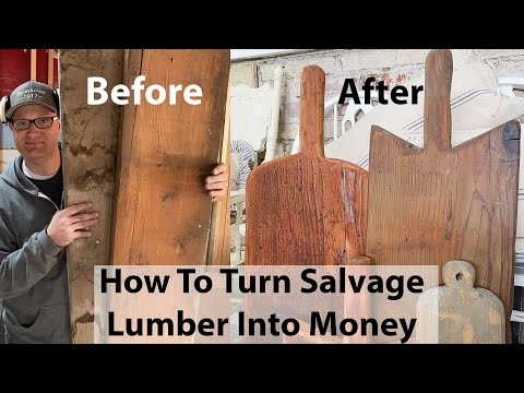 How To Turn Salvage Lumber Into Money | Antique Cutting Board DIY