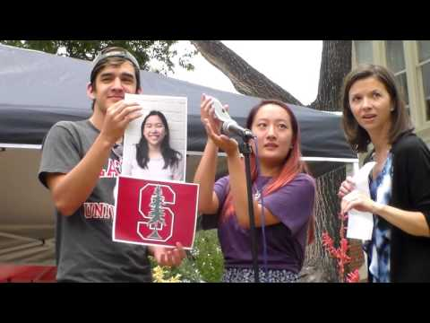 Keystone School Senior Class 2016 with their college announcements (part 1)