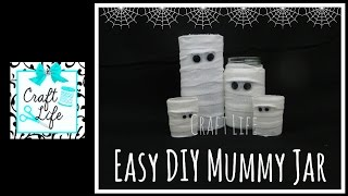 Craft Life Quick and Easy Halloween Decor DIY Mummy Jar Tutorial