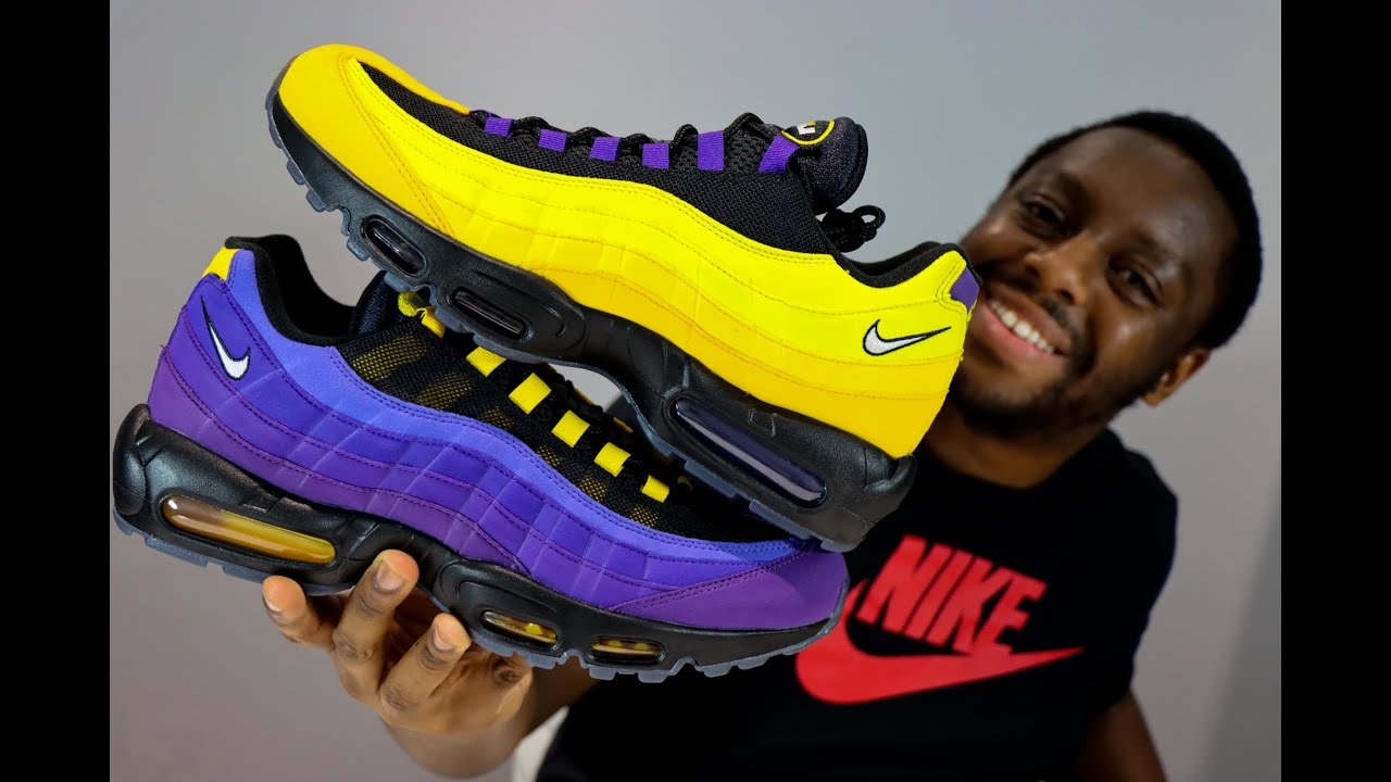 LeBron Air Max 95 Lakers Home Team On Feet Sneaker Review QuickSchopes 163 - Schopes CZ3624 001