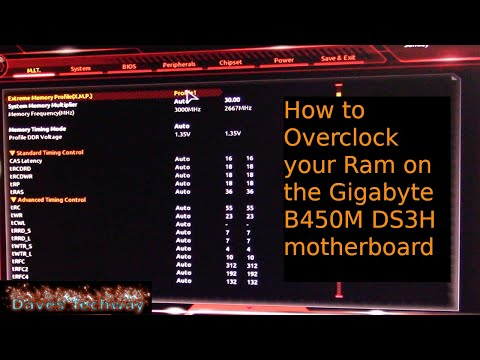 How to Overclock your Ram on the Gigabyte B450M DS3H motherboard