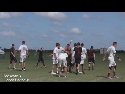 Florida United Player spikes disc at Sockeye player's head