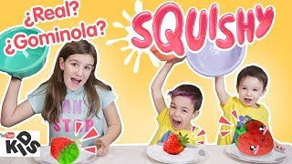 SQUISHY vs Real Food vs GOMINOLA!! // Familukis