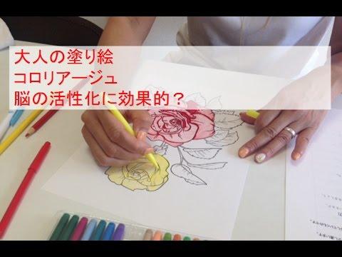 大人の塗り絵 コロリアージュ 脳の活性化に効果的 Youtube