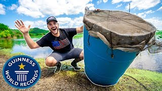 Building the WORLDS LARGEST Minnow Trap!!! (EPIC)