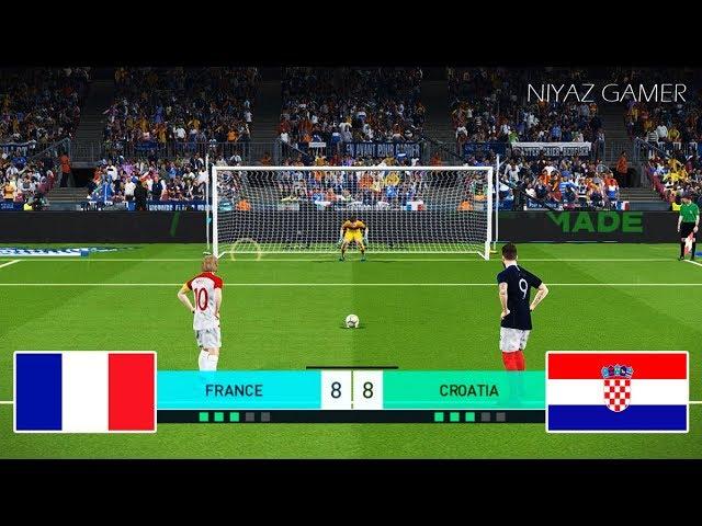 FRANCE vs CROATIA | Penalty Shootout | PES 2018 Gameplay PC