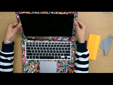How to make custom laptop skin sticker