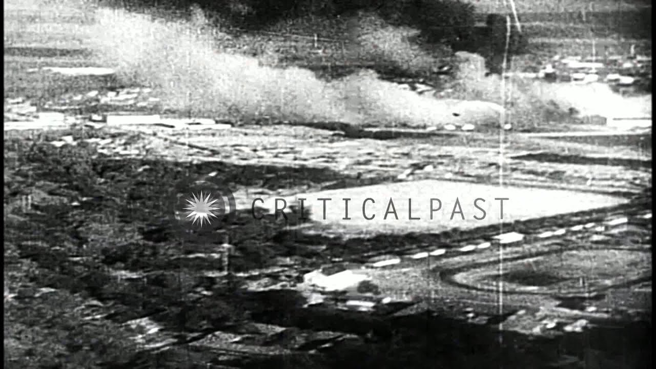 Footage of Pearl Harbor Japanese attack aftermath ...