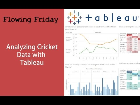 Tableau Analysis - Cricket Data