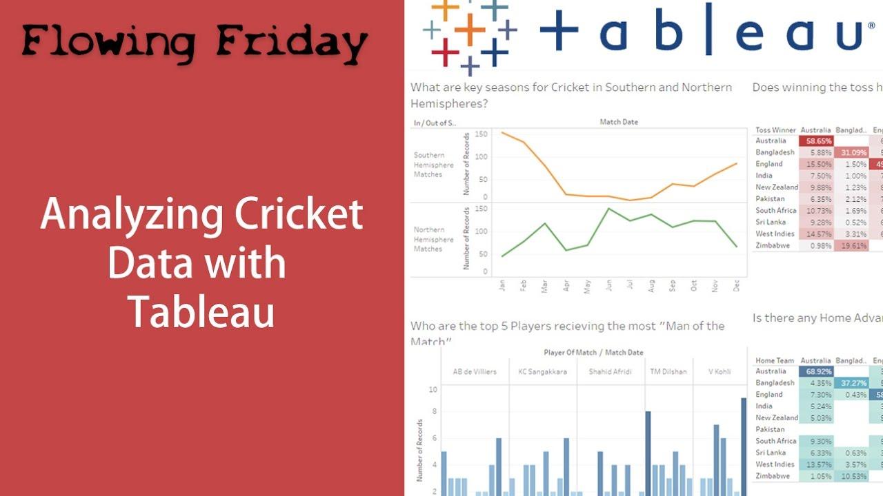 Tableau Analysis - Cricket Data