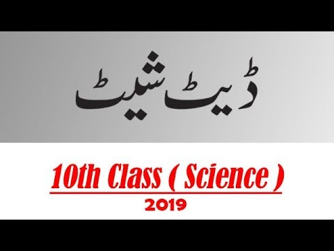 Date Sheet for 10th Class 2019 | Science Group