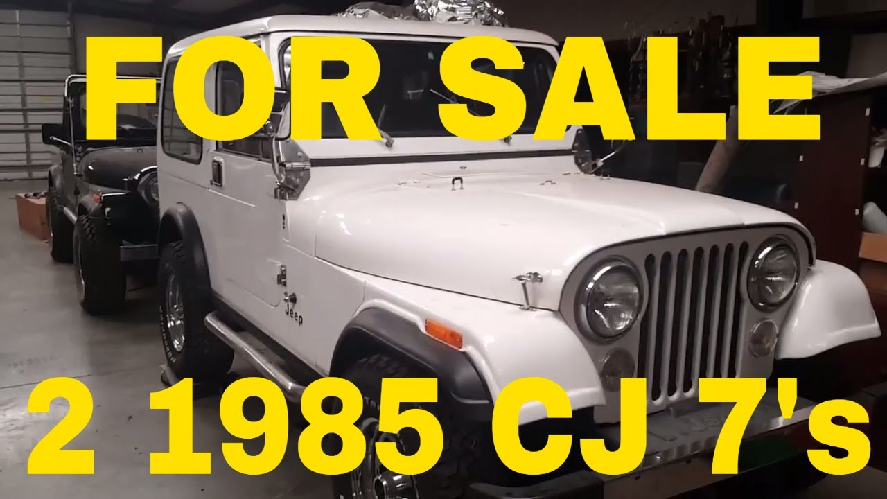 for sale 2 1985 cj 7 one is black and one is white  [ 1280 x 720 Pixel ]