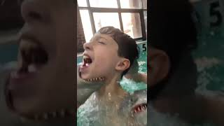 SHARK PUPPET GOES SWIMMING!!!!!