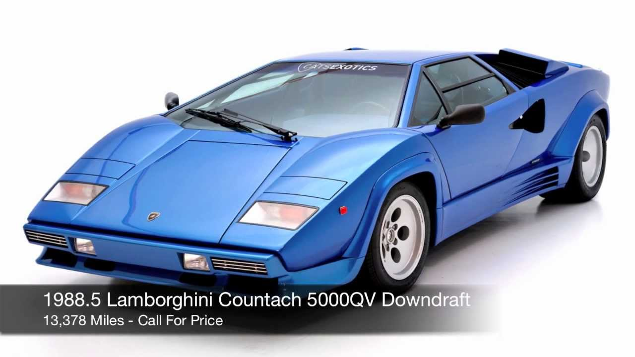 1988 5 Lamborghini Countach 5000 Qv Downdraft For Sale