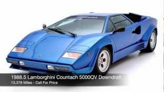 1988.5 Lamborghini Countach 5000 QV Downdraft FOR SALE
