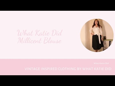 What Katie Did: Millicent Wrap Blouse White