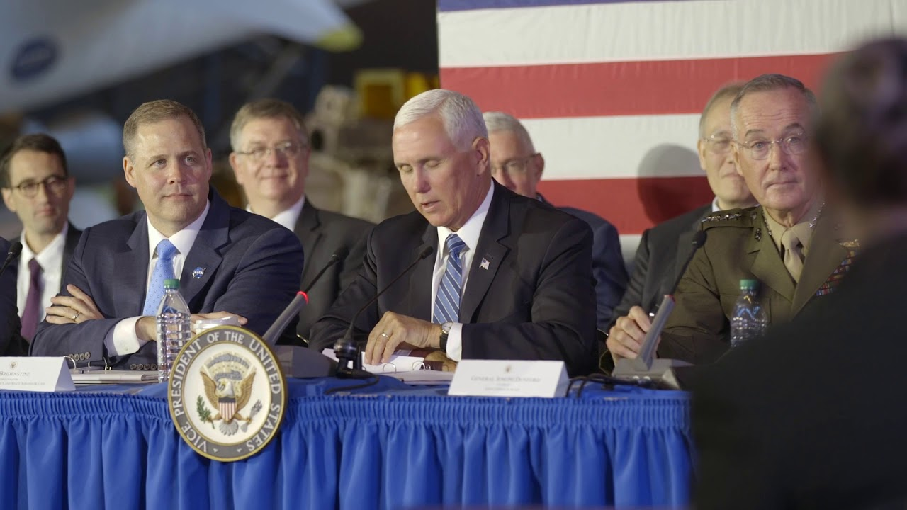 The White House Vice President Pence at the 6th meeting of the National Space Council