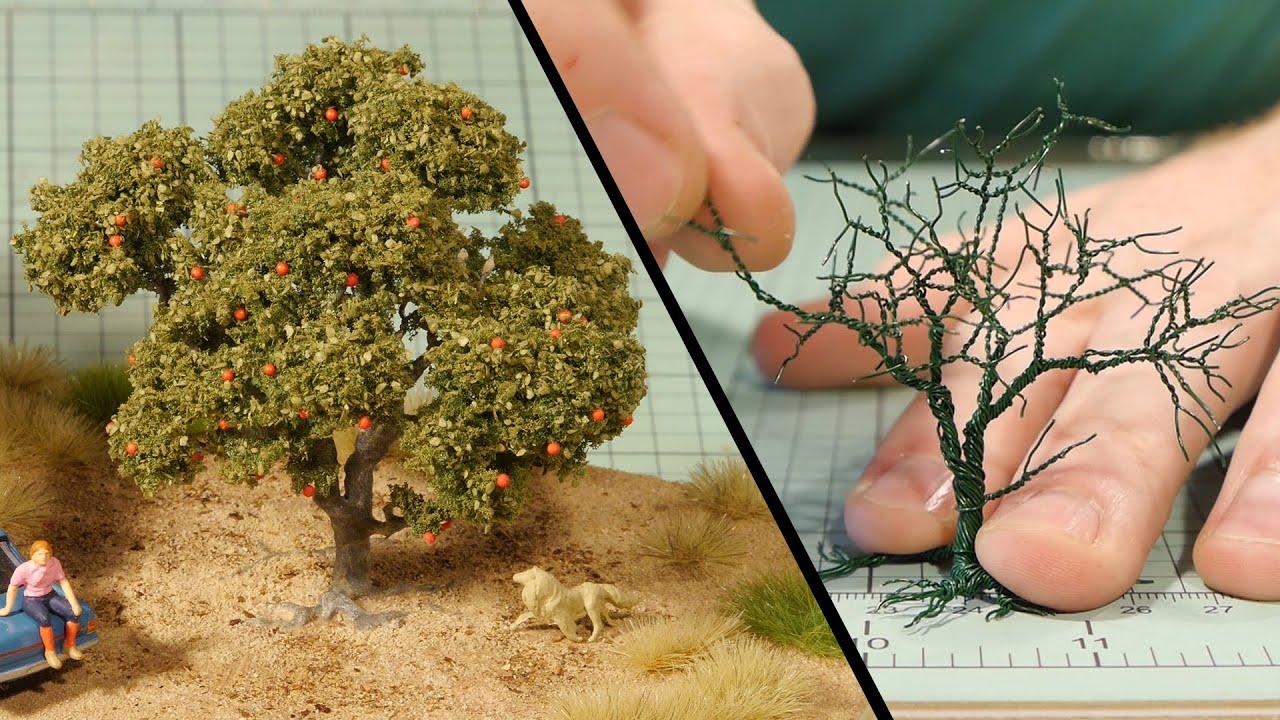 wire tree tutorial model railroad [ 1280 x 720 Pixel ]
