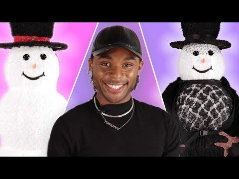 Celebrity Stylists Try Styling a Snowman