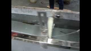 Экструзионная линия для производства гарпуна ПВХ для натяжных потолков. Экструдер для гарпуна.(, 2013-03-26T06:25:50.000Z)