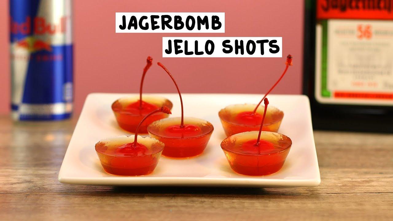 Jäger Bomb Jello Shots - Tipsy Bartender