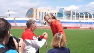 3 день ЧР по легкой атлетике среди слепых в Саранске. 26.06.17