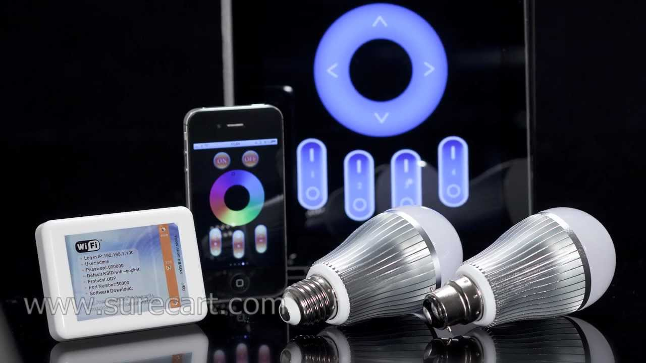 iphone controlled lighting. Exellent Iphone Iphone And Android Phone Controlled LED Light Bulb  Mi WIFI RGB  YouTube Inside Lighting