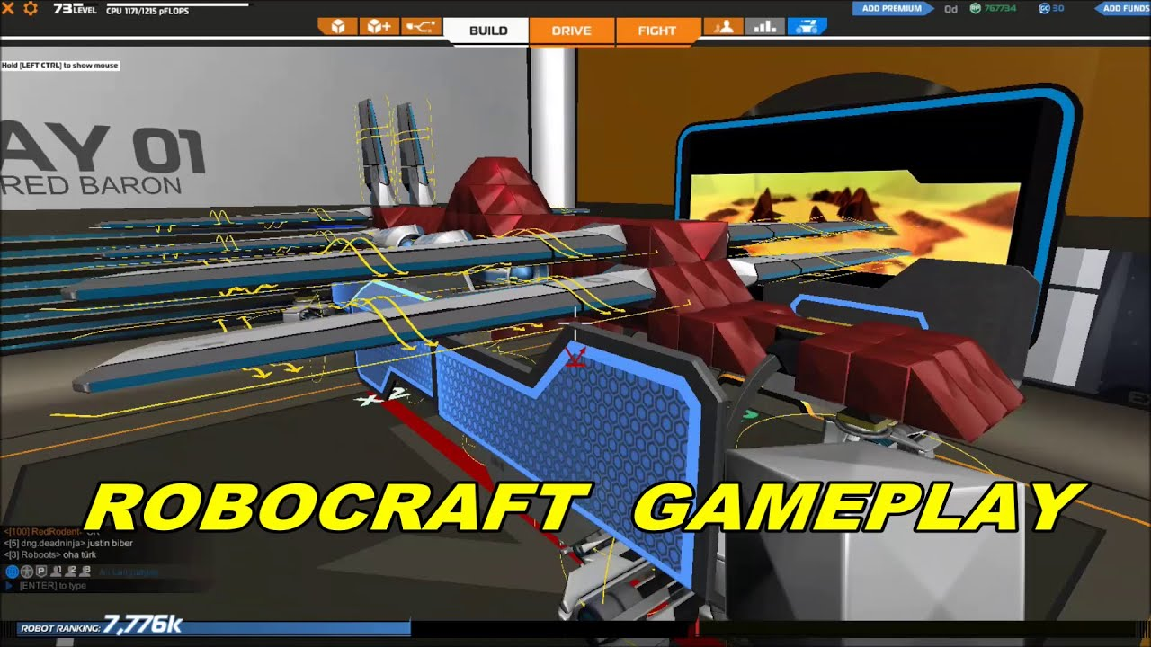 Robocraft (PC - Steam) Gameplay With Commentary (Windows 7 ...