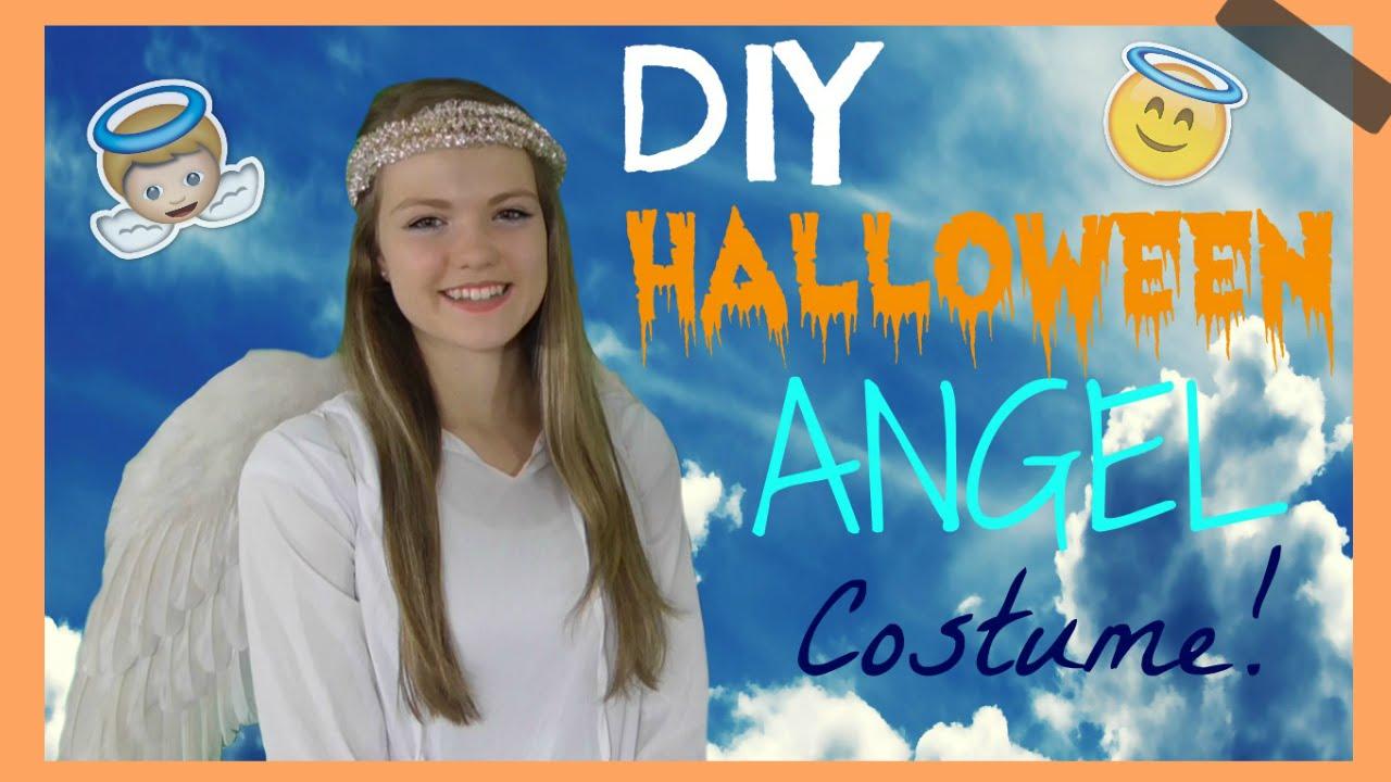 Easy cute diy halloween angel costume youtube solutioingenieria Gallery