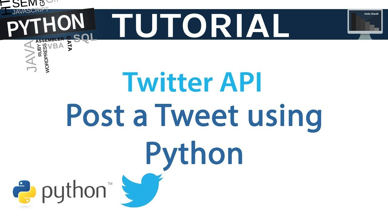 How To Post A Live Tweet With Python Using Twitter API