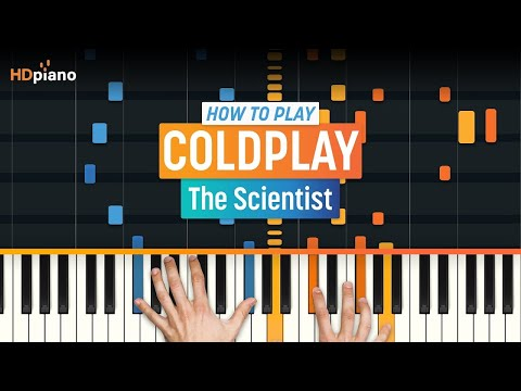 "How to play ""The Scientist"" by Coldplay on Piano with Synthesia - Piano Tutorial"