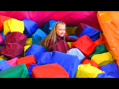 Funny Girl Playing With Toys In Children's Centre Family Kids Video