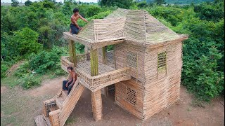 Building The Most Creative Two Story Villa​ By Wood 100%
