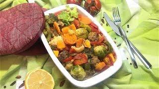 вкуснейшие тефтели с овощами в духовке и простой гарнир