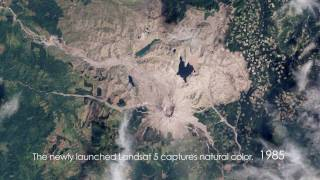 Mount St. Helens: Time-Lapse From Space (1979-2009) [720p]